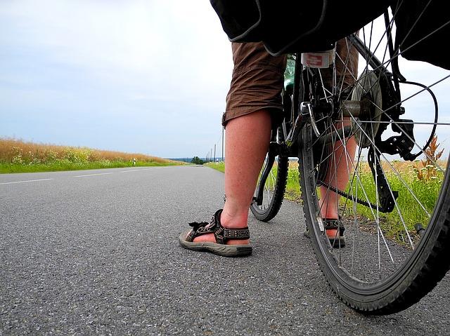 mladý cykloturista