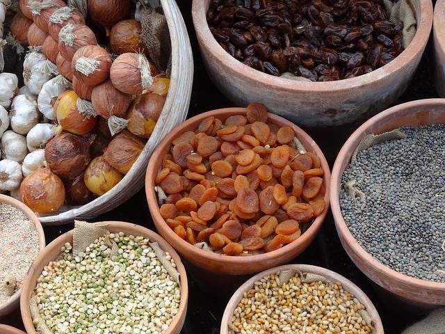 luštěniny a sušené ovoce